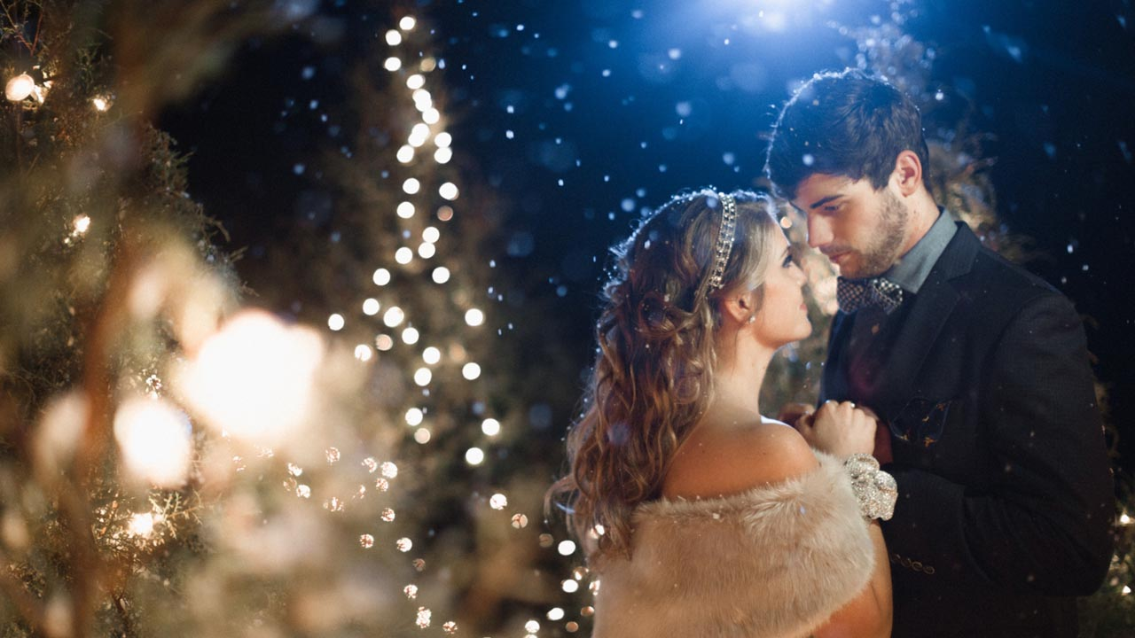Photography winter wedding
